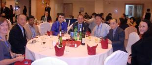 Dr Merched with colleagues at opening ceremony BIT ICC China